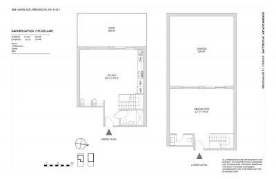 Garden Duplex floor plan